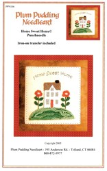 Punchneedle Home Sweet Home Pattern - Plum Pudding Needleart