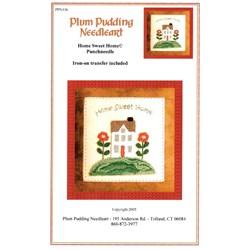 Punchneedle Home Sweet Home Pattern - Plum Pudding Needleart