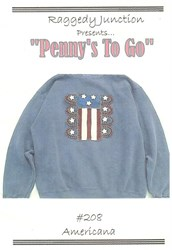 Penny's To Go Pattern - Americana <br>by Raggedy Junction