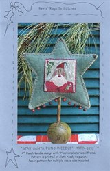 Star Santa Punchneedle- Reets Rags To Stitches