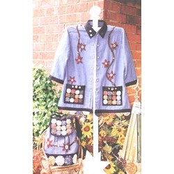 Yo-yos and Star Flowers Jacket Pattern by Serendipity