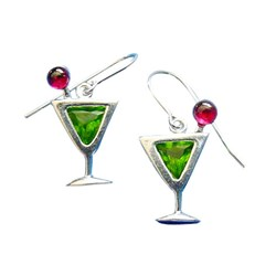 Sterling Silver With Green Cubic Zirconia Appletini
