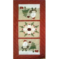 Around The Christmas Tree Table Runner Pattern by Fig 'n' Berry Creations
