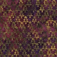 Island Batik - Green Acres - Purple & Green Tree