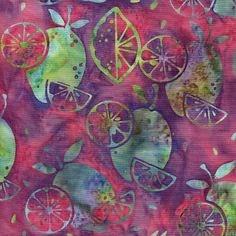 "13"" Remnant - Fruit Splash - Island Batik - Cherries Jubilee Collection"
