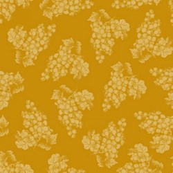Vintage  1134-44  From Henry Glass Fabrics -Gold Tonal Grapes