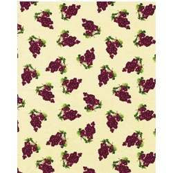 Vintage  1138-40  From Henry Glass Fabrics -Grape Toss on Soft Yellow
