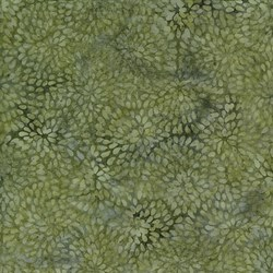 Island Batik Ogee Petal Pond- Moss - Twilight Blush Collection