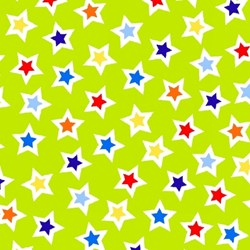 """13"""" Remnant - Airshow Green Stars - #1217-60  - by by First Blush Studios for He"""