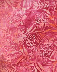 Anthology Art Inspired Collection Hand Made Batik -Pink/Orange/Peach Floral