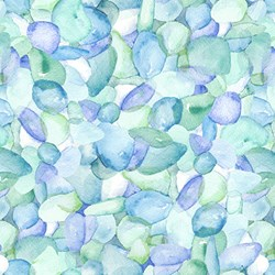 Coastal Paradise Collection -Sea Glass 1502-11- by Barb Tourtillotte for Henry Glass Fabric