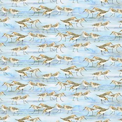 Coastal Paradise Collection -Sea Birds 1503-11 - by Barb Tourtillotte for Henry Glass Fabric