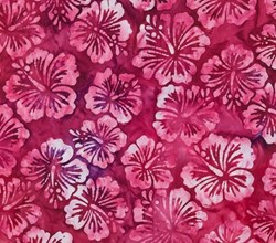 "End of Bolt - 58"" - Robert Kaufman Artisan Batiks -Tropical - #AMD-15501-197 Tropical Hibiscus"