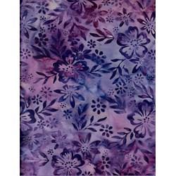 Robert Kaufman Artisan Batiks -    Robert Kaufman Fabrics Spangled - Floriculture Designer - 15517-250-Lupine