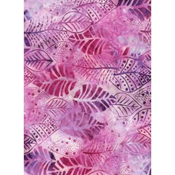 Anthology Hand Made Batik -Purple & Pink Leaves
