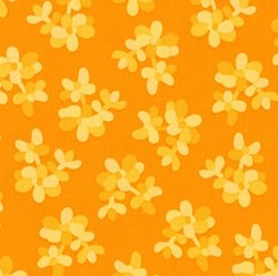 Terrarium - Orange by Elizabeth Hartman for Robert Kaufman Fabrics