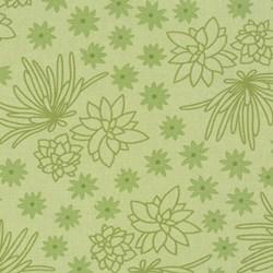 Terrarrium - Olive Succulents - by Elizabeth Hartman for Robert Kaufman Fabrics
