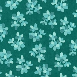 Terrarium - Glacier Jade  by Elizabeth Hartman for Robert Kaufman Fabrics