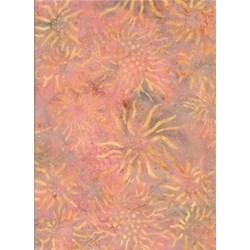 Batik Textiles- Peach Star Burst