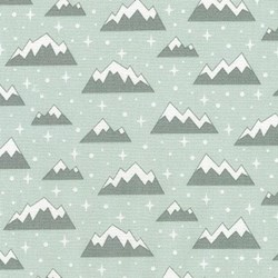 "9"" Remnant  - Arctic Mountain Tops on Ice Green"