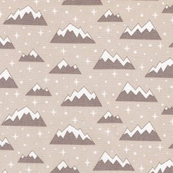"End of Bolt- 48""  - Arctic Mountain Tops onTaupe"