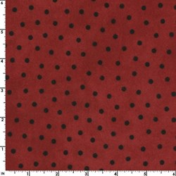 "End of Bolt - 39"" - Woolies Flannel - Red  Dots - by Maywood Studios"