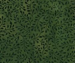 Bella Suede Look Fabric - Dark Green Vines- by P&B Textiles