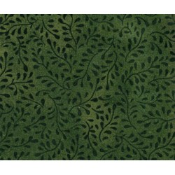 Bella Suede Look Fabric - Dark Green Vines- by P&B Textiles