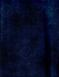 Bella Suede Look Fabric - Dark Navy Circles Overlay by P&B Textiles