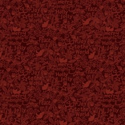 Believe - Words - Joy to the World, Peace on Earth - by Jan Rae Nesbitt for Henry Glass Fabrics