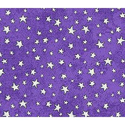 Happy Halloween - Purple Stars - Northcott
