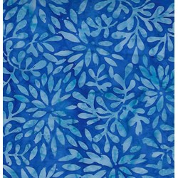 Wilmington Batiks Dancing Flower Bursts - Blue
