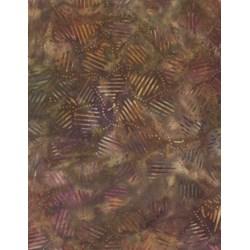"End of Bolt - 88"" - Wilmington Batiks Colorful Strikes on Gold/Brown Mottled"