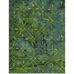 Batik Textiles- Green Geometric