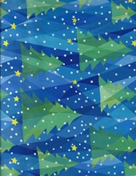 "End of Bolt - 36"" - Winter Lights Christmas Trees - #3093-MU"