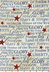 Patriotic Word Toss by Linda Ludovico for Northcott Fabrics