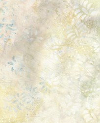 "Cream & Gray  Leaf Toss - 106"" Wide Batik - #44272-121 Wilmington Batavian Batiks"