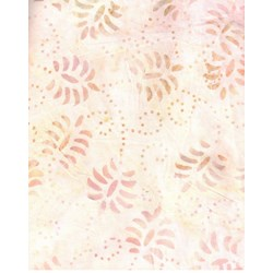 "Peaches 'n Cream Leaf Toss - 106"" Wide Batik - #44272-308 Wilmington Batavian Batiks"