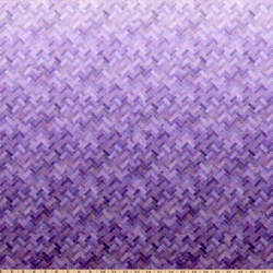 R4650-70 Lavender - A Hoffman - Lavender Herringbone  By Digital Spectrum Print -Punch