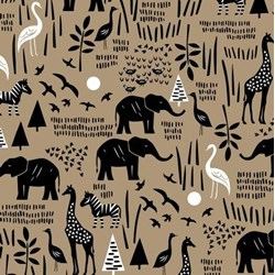 Paper Art Safari - Linen Safari Scene #51141-2  by Windham