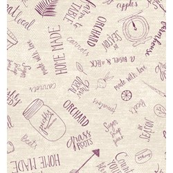 Freshly Picked Word Toss Fabric - By Wilmington Prints