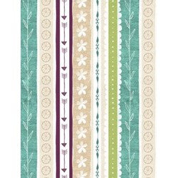 "End of Bolt - 70""  - Freshly Picked Printed Stripe  Fabric - By Wilmington Prints"