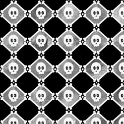 Chills & Thrills (Glow in the Dark) Skulls  Fabric by Shelly Comiskey for Henry Glass Fabrics