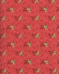 "End of Bolt - 66"" - Songbird Christmas - Tomatoe Red with Green Leaves"