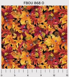 "17"" Remnant - Fall Bounty Metallic Fabric - Fall Bounty - by P&B Textiles"