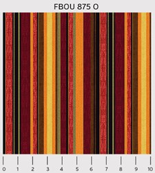 "18"" Remnant - Fall Bounty Metallic Fabric - Stripes - by P&B Textiles"