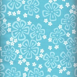 Surfin Pareo - Blue Flowers - by Alexander Henry - Retired Fabric!