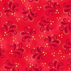 Red Flourish on Red-Anastasia by Jane Spolar