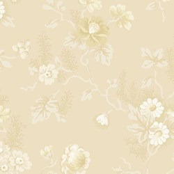 Clotted Creams & Caramels - Tonal Floral - by Di Ford Hall for Andover Fabrics