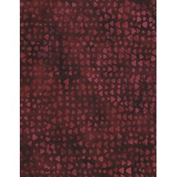 "25"" Remnant - Anthology Hand Made Batik - Burgundy Geometric Shapes"
